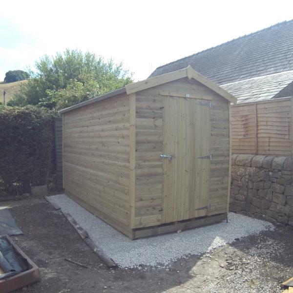 """Apex 3""""x2"""" framed shed"""