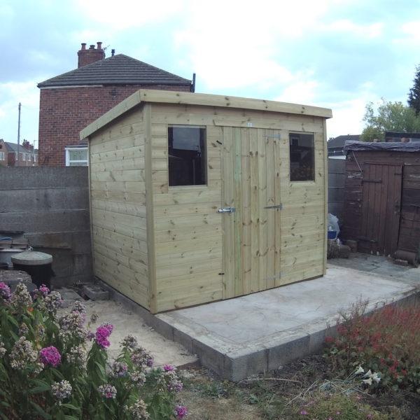 budget shiplap pent roof